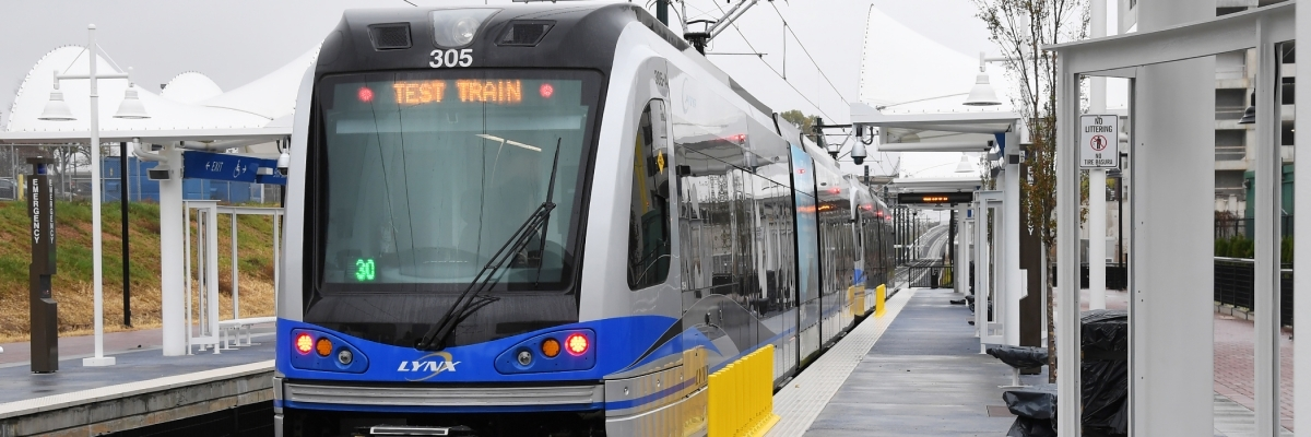 Test Lynx Blue Train from Center City campus